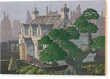 Ye Olde Pub Wood Print