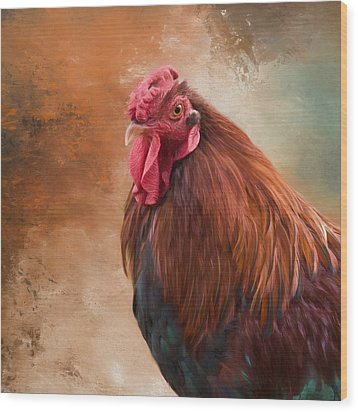 Wood Print featuring the photograph Year Of The Rooster 2017 by Robin-Lee Vieira