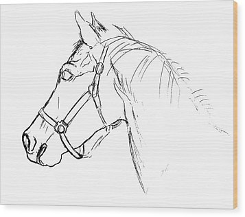 Yearling White Wood Print by JAMART Photography
