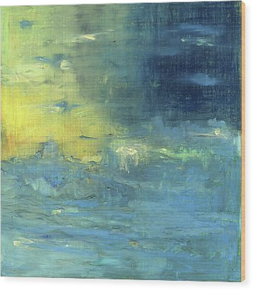 Wood Print featuring the painting Yearning Tides by Michal Mitak Mahgerefteh
