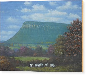 Yeats Country With Benbulben Wood Print by Sean Conlon