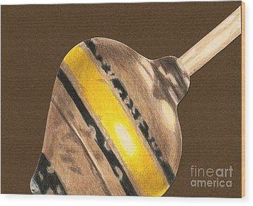 Yellow And Black Top Wood Print