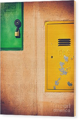 Wood Print featuring the photograph Yellow And Green by Silvia Ganora