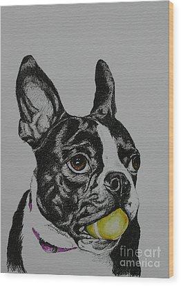 Yellow Ball  Wood Print
