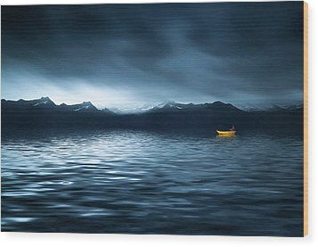 Wood Print featuring the photograph Yellow Boat by Bess Hamiti
