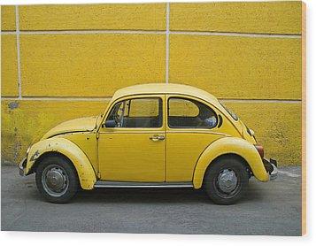 Yellow Bug Wood Print by Skip Hunt