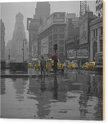 Yellow Cabs New York Wood Print