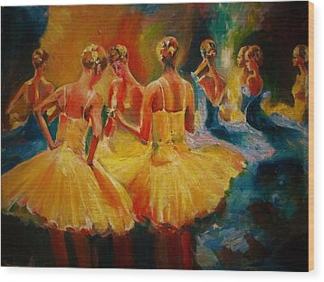 Yellow Costumes Wood Print