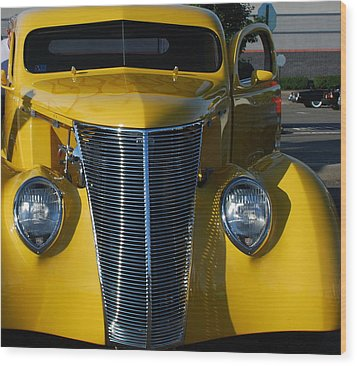 Yellow Coupe Wood Print by William Thomas