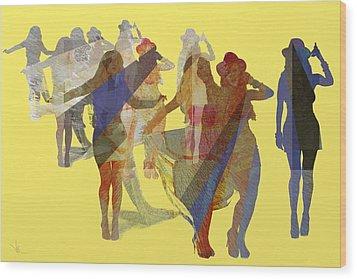 Yellow Dance Wood Print