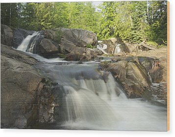 Yellow Dog Falls 3 Wood Print by Michael Peychich
