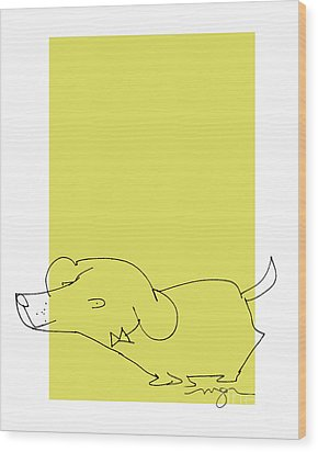 Yellow Dog Wood Print