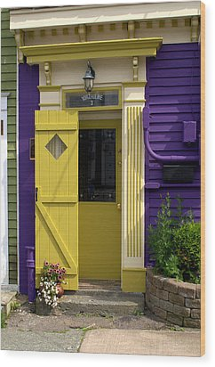 Yellow Door Wood Print by Douglas Pike