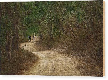 Wood Print featuring the photograph Yellow Dust Road by Cameron Wood