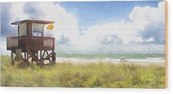 Yellow Flag, Santa Maria Island, Florida Wood Print