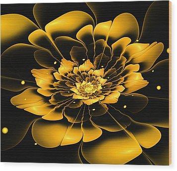 Yellow Flower Wood Print by Anastasiya Malakhova