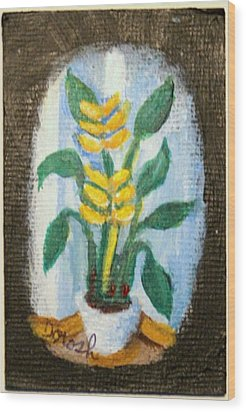 Yellow Flowers Wood Print
