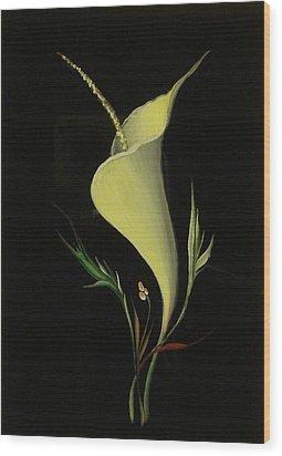 Yellow Glass Wood Print by Venyamin Astashov