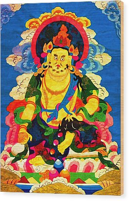 Yellow Jambhala 4 Wood Print by Lanjee Chee