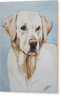 Yellow Lab Wood Print