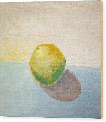 Yellow Lemon Still Life Wood Print by Michelle Calkins