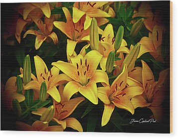 Wood Print featuring the photograph Yellow Lilies by Joann Copeland-Paul
