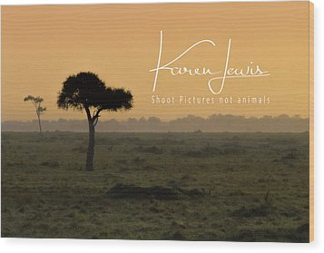 Wood Print featuring the photograph Yellow Mara Dawn by Karen Lewis