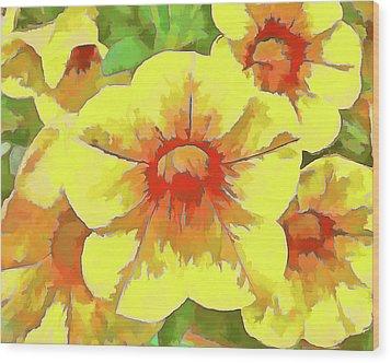 Yellow Million Bells Wood Print