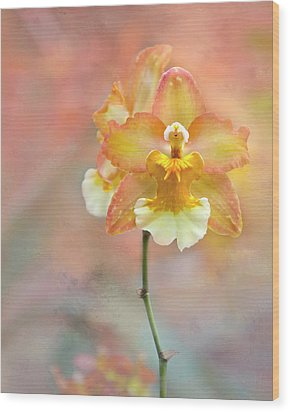 Wood Print featuring the photograph Yellow Orchid by Ann Bridges