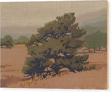 Yellow Pine Wood Print by Dan Miller