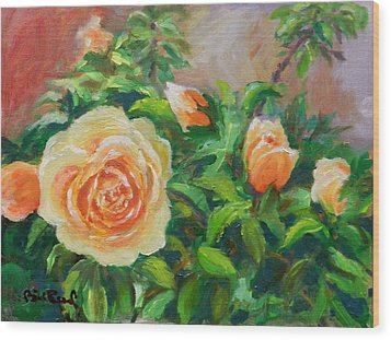 Yellow Roses Wood Print