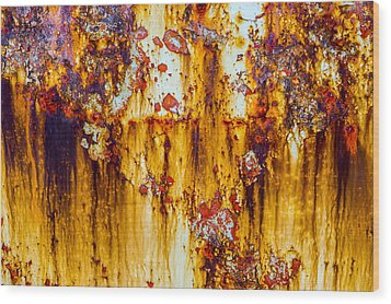 Yellow Rust Wood Print