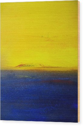 Yellow Sky 2 Wood Print