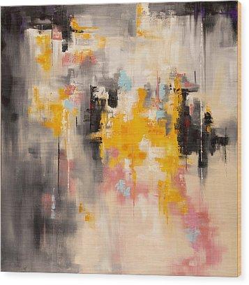 Yellow Sun Wood Print by Suzzanna Frank