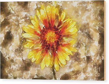 Yellow Sunshine Wood Print by Shirley Stalter
