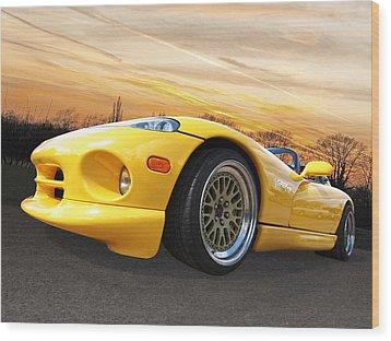 Yellow Viper Rt10 Wood Print by Gill Billington