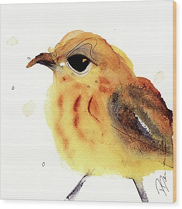 Wood Print featuring the painting Yellow Warbler by Dawn Derman