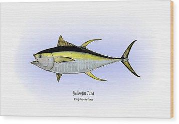 Yellowfin Tuna Wood Print by Ralph Martens
