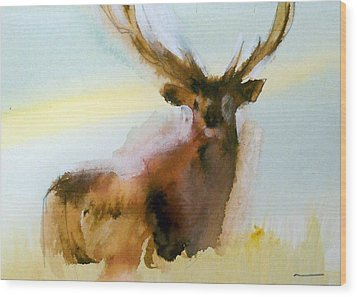 Yellowstone  Elk Wood Print