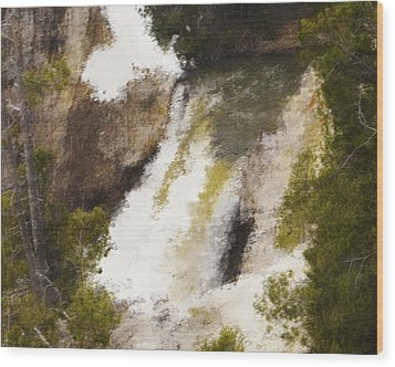 Yellowstone Falls Wood Print by Jo-Anne Gazo-McKim