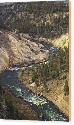 Yellowstone River Canyon Wood Print by Marty Koch