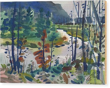 Yellowstone River Wood Print by Donald Maier