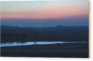 Yellowstone River Evening Wood Print by Aliceann Carlton