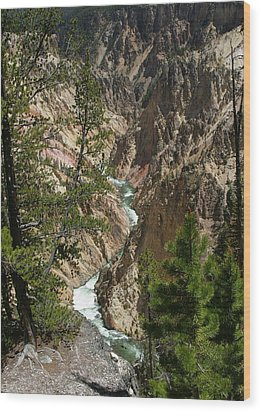 Yellowstone River Wood Print by Linda Phelps