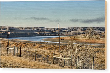 Yellowstone River View Wood Print