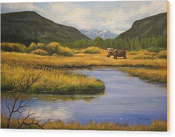 Yellowstone Saga Wood Print by Brooke Lyman