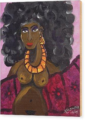 Yemaya Aphrodite Gives Advice. Wood Print by Ifeanyi C Oshun