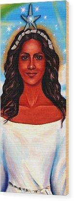 Yemaya-the Goddess Wood Print by Carmen Cordova
