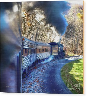 Yesterday By Train  Wood Print by Steven Digman