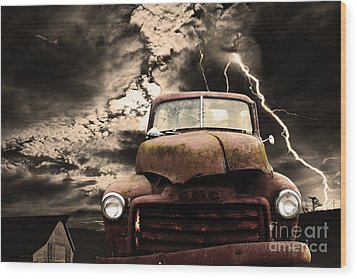 Wood Print featuring the photograph Yesterday Came Early . Tomorrow Is Almost Over by Wingsdomain Art and Photography